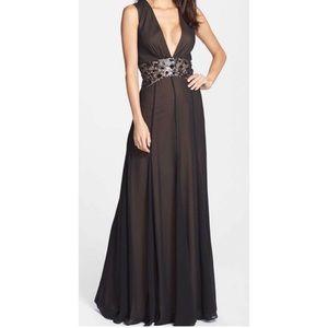 Brand new. Black BCBG Stacy gown.